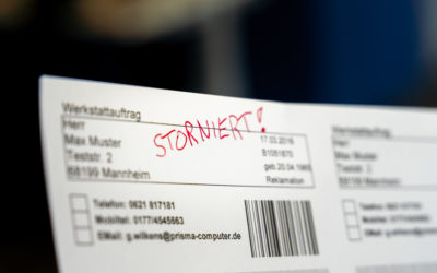 Auftrag stornieren — wenn's denn sein muss, dann richtig!
